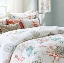 Coral, Seashells, Starfish, CAL King Comforter Set KO (7 Piece Bed In A Bag)