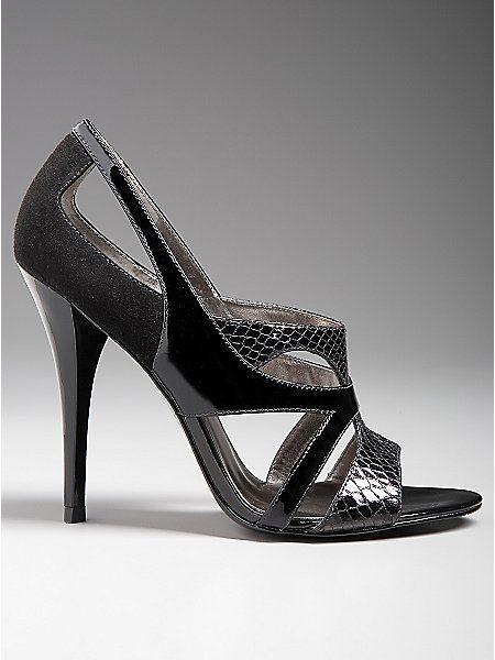 GUESS SANDALS HEELS PUMP  NASRI BLACK Schuhe  Sz. 8.5