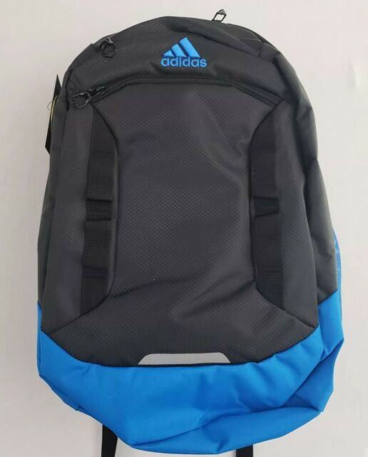 Adidas Excel IV Laptop Gray Blue Backpack Media Pocket Loadspring Tech  LIFETIME 3c8fdd3f1ce5e
