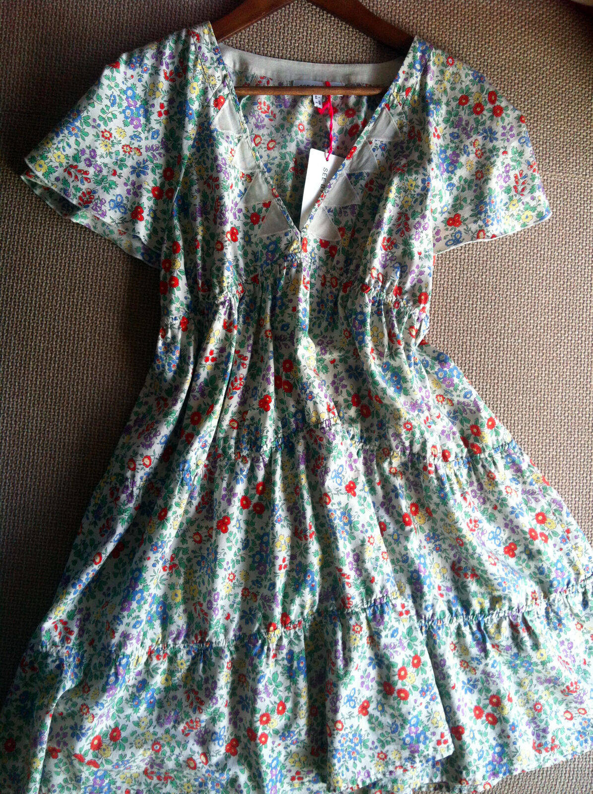 See by Chloè geblümtes Kleid   floral dress Gr. 36, US 4 NEU