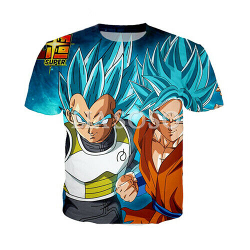Mujer Hombre Camiseta 3D impresión de Dragon Ball Z Super Manga Corta Camiseta Tamaño Grande Prendas para el torso