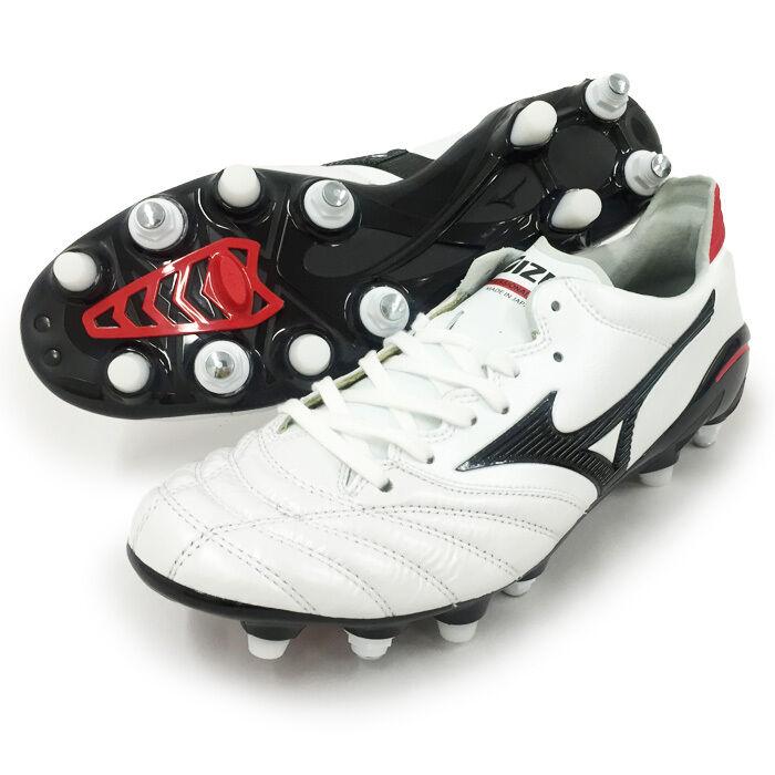 Mizuno Morelia Neo 2 Fútbol Zapatos P1GC165 blancoo Cuero De Canguro Hecho En Japón