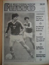 FUWO 28 - 11.7. 1989 3* Mike Buth Europa-Cup Fazit: Wismut Aue+ Carl Zeiss Jena