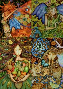 PAGAN WICCA BIRTHDAY GREETING CARD WILDLIFE BIRDS MERMAID GODDESS F.U.M. TOOLS