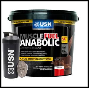 USN Músculo Fuel Anabólico Todo en Uno Agitador de masa muscular libre de chocolate 4kg