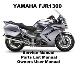 yamaha fjr1300 owners workshop service repair parts list. Black Bedroom Furniture Sets. Home Design Ideas
