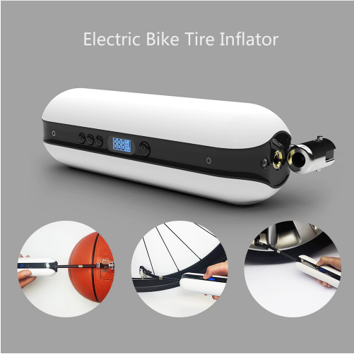 Smart Pump Bike Electric Inflator Bicycle Air Pressure Rechargeable Cordless New