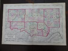 1872 Hand-Colored Map of PA/Counties of Warren, McKean, Potter, Forest, Elk