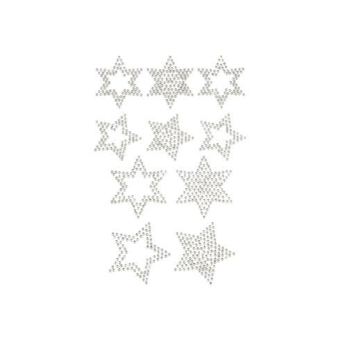 10 Stern Sticker Strass Steine zum Aufkleben für Weihnachten Farbe wählbar