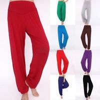 Fashion Casual Womens Girls Yoga Sports Wide Leg Loose Harem Trousers Pants D43