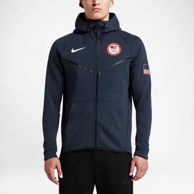 NEW NIKE TECH FLEECE WINDRUNNER HOODIE TEAM USA 2016 OYMPICS 807610 473 SMALL
