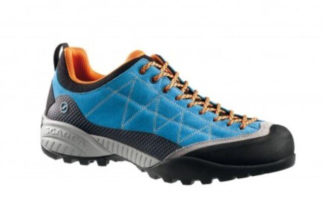 neueste trends echte Schuhe letzte Veröffentlichung Scarpa Zen pro Men, Legendary Approach Approach Shoe, Azure-Orange