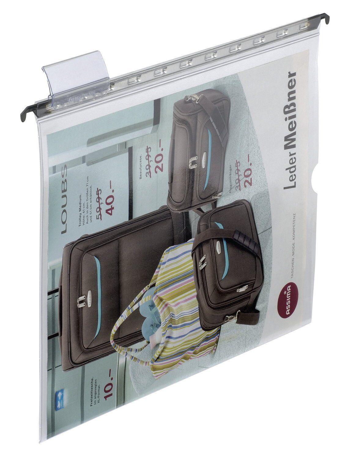 25 x ELBA Grünic 1 Hängesichttasche, glasklar, A4, aus PVC, Hängetasche   Viele Stile    Eleganter Stil    Deutschland Shops