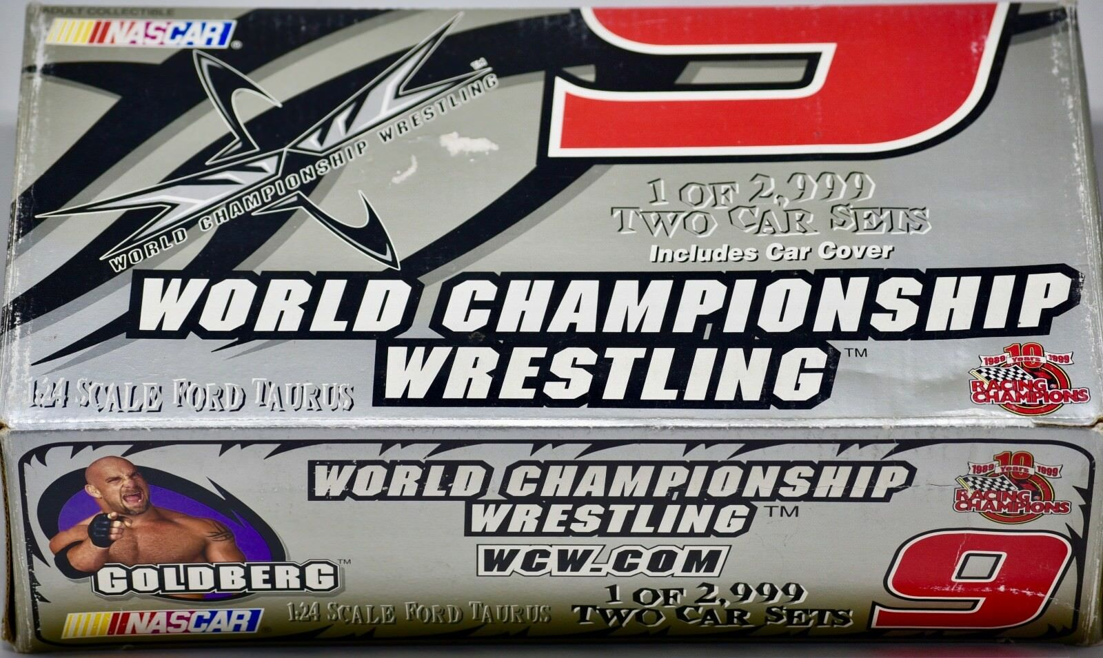 1999 - Racing Champions WCW - goldberg  9 Ford Taurus - Jerry Nadeau 1 24 Scale