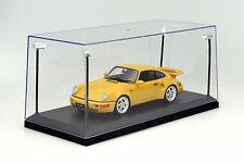 Singola vetrina con 4 LED mobili lampade per modellini di auto in scala 1:18 Tri