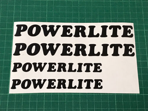 POWERLITE BMX Frame Forks Stickers Decals Custom Sizes Colours Bike Cycling