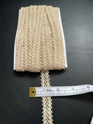 5 Metres Beige Crochet 16mm Approx Edging Lace Trim Ribbon Sewing Craft Dress
