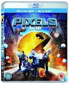 PIXELS - 3D BLU RAY - NEW / SEALED - UK STOCK 5051124572176