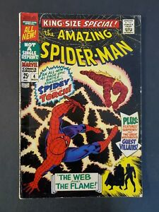 AMAZING-SPIDER-MAN-ANNUAL-4-4-5-VG-UNPRESSED-MARVEL-SILVER-COMIC