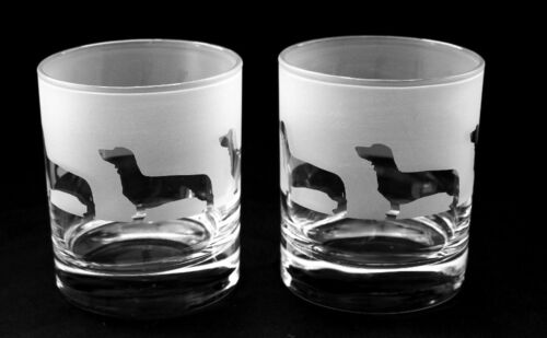 Dachshund Whisky Glasses Boxed