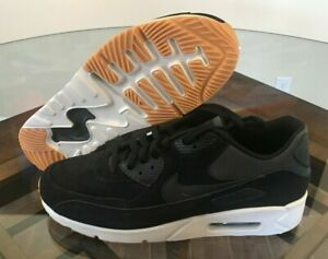 Details about Nike Air Max 90 Ultra 2.0 LTR Leather Running Black White Gum 924447 003 Size 13