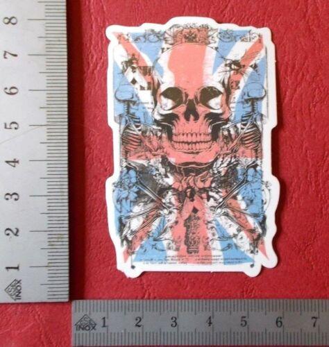 "Sticker Adhesivo /""British Skull/"" brillo-Optik StickerBomb skateboard portátil"
