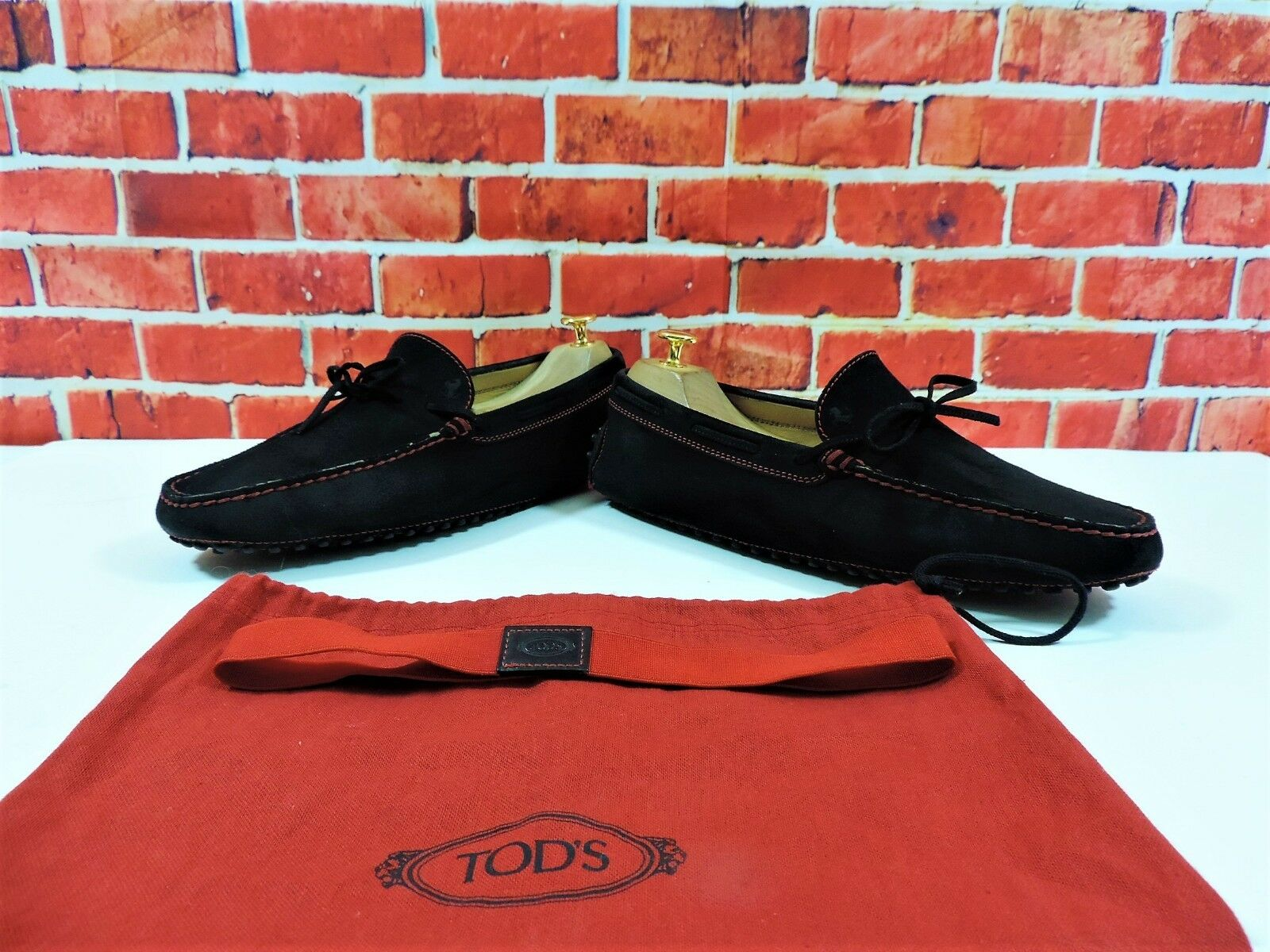 Tods Ferrari Suede Loafers Drivers US 8.5 V minor use Bag Strap