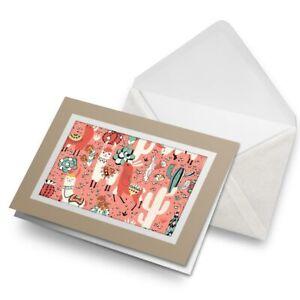 Greetings-Card-Biege-Pink-Cartoon-Llamas-Party-Cactus-16766