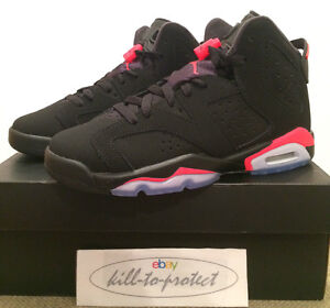 check out c07fa 41aa5 Image is loading NIKE-AIR-JORDAN-6-BlACK-INFRARED-GS-BG-