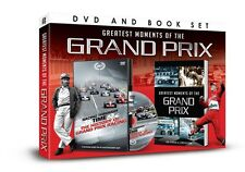 GREATEST MOMENTS OF THE GRAND PRIX BOOK & DVD GIFT SET - Formula 1 F1 HISTORY