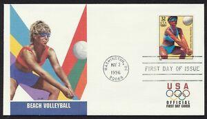 #3068k 32c Playa Voleibol, Fleetwood FDC Cualquier 5=