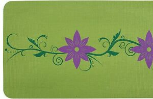 Yoga-Mat-by-Serene-Focus-Green-Dual-Color-Floral-Design-Alignment-amp-Focus