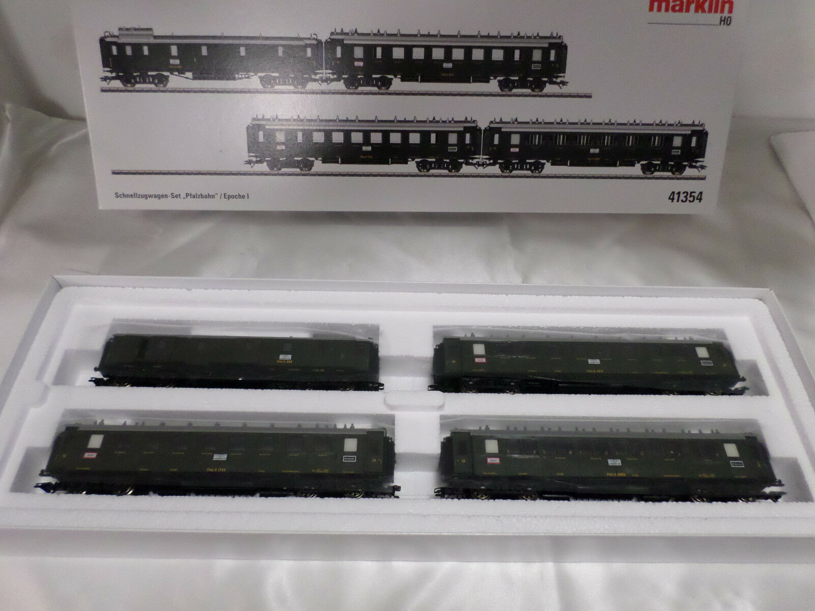 Marklin 41354 HO Palatine Railroad Express Train Passenger Car Set