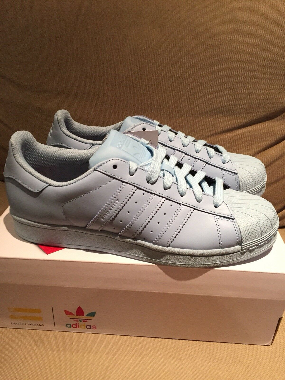 adidas Originals Superstar 2018 Pharrell Williams Supercolor 'Clear Sky' UK8 New