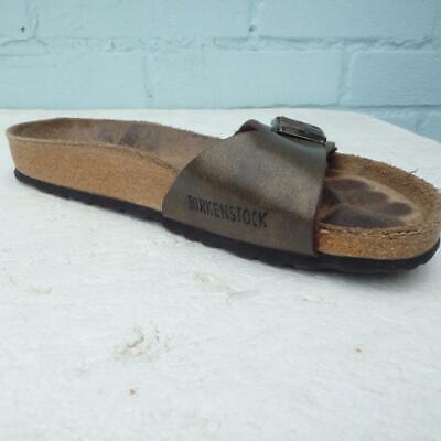 Birkenstock Sandals UK 4 Eur 37 Womens Buckles Brown Bronze Madrid Cork Sandals | eBay
