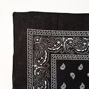 100% Cotton Paisley Bandana Head Wrap Scarf Wristband Handkerchief ... e1c8df411a7f