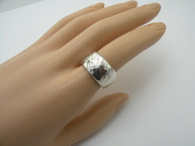 Size 8.5 Silpada R1343 Retired .925 Sterling Silver Hammered Ring Band 8 1/2 Fine Jewelry
