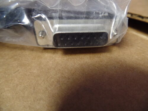 Lot of 120-6 ft 15 pin  male to male  serial cable Cisco p//n 72-1213-01 new
