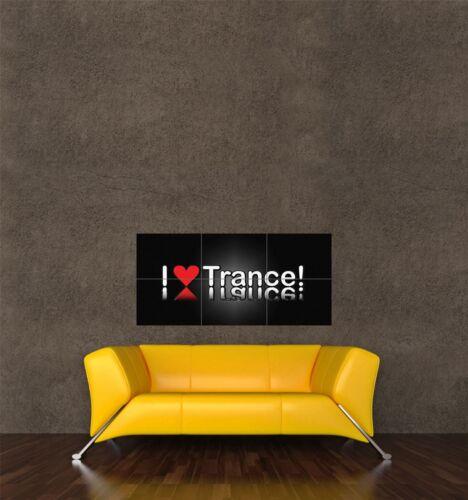 POSTER PRINT PAINTING DIGITAL GRAPHIC SYMBOL TYPOGRAPH LOVE TRANCE MUSIC SEB712