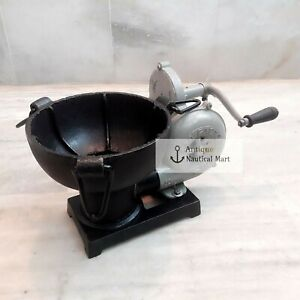 Forge-Furnace-With-Hand-Blower-Vintage-Style-Pedal-Type-Handle-Blacksmith
