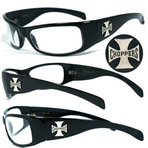 Clear C11B Mens Choppers Outdoors Bikers Sports Motocycle Riding Sunglasses