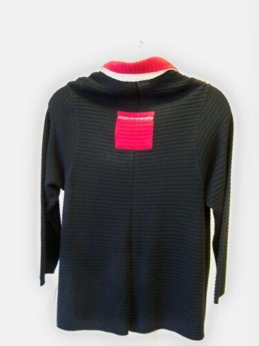 Rød Sort Tunika Natural Collar Cardie Nwt 1x Vinter Sweater Margaret Shirt O0wfR70Z