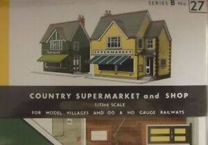 Superquick Country Town Shops - 1//72 OO//HO - Card Model Kit B22