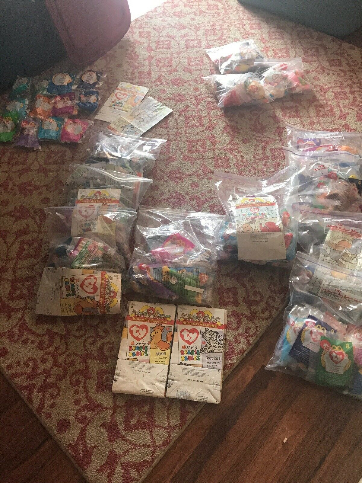 150+ McDonald's TY beanie babies, unopened, 1997, 1998 And 1999 W Bags.