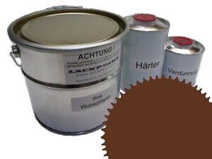 1,5 Liter Set 2K Floor Color Floor Ral 8007 Vinyl-Epoxid-Lack Lackpoint Shine