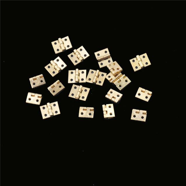 20pcs Mini Brass Plated Hinge Small Decorative Jewelry Cigar Box Hinges