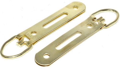 Heavy Duty D anneau cintre avec fente 93 mm laiton miroir photo crochet suspension anneaux