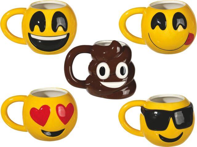 Tasse Smiley Emoticon Kaffeebecher Becher Poo Emotion Cool Liebe Lach Grins NEU