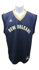 New Orleans Pelicans Mens Sizes S-2XL Blue Adidas Team Jersey