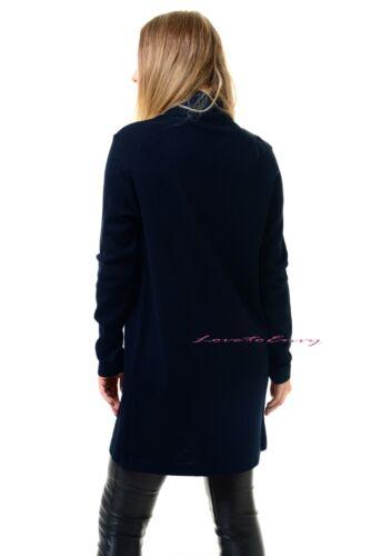 Mujeres Suéter Tejido Abierto Informal Cárdigan Manga Larga Chaqueta de Abrigo Camiseta inteligente.